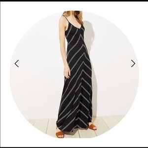 Chevron Strappy Maxi Dress